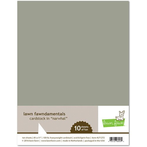 Lawn Fawn - 8.5 x 11 Cardstock - Narwhal - 10 Pack