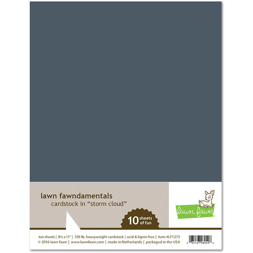 Lawn Fawn - 8.5 x 11 Cardstock - Storm Cloud - 10 Pack