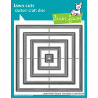 Lawn Fawn - Lawn Cuts - Dies - Large Dotted Square Stackables