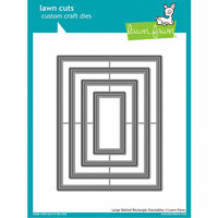 Lawn Fawn - Lawn Cuts - Dies - Large Dotted Rectangle Stackables
