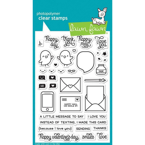 Lawn Fawn - Clear Acrylic Stamps - Love Letters