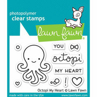 Lawn Fawn - Clear Photopolymer Stamps - Octopi My Heart