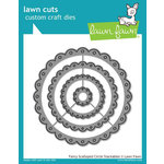 Lawn Fawn - Lawn Cuts - Dies - Fancy Scalloped Circle Stackables