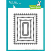 Lawn Fawn - Lawn Cuts - Dies - Fancy Scalloped Rectangle Stackables