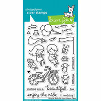 Lawn Fawn - Clear Photopolymer Stamps - Bicycle Built for You