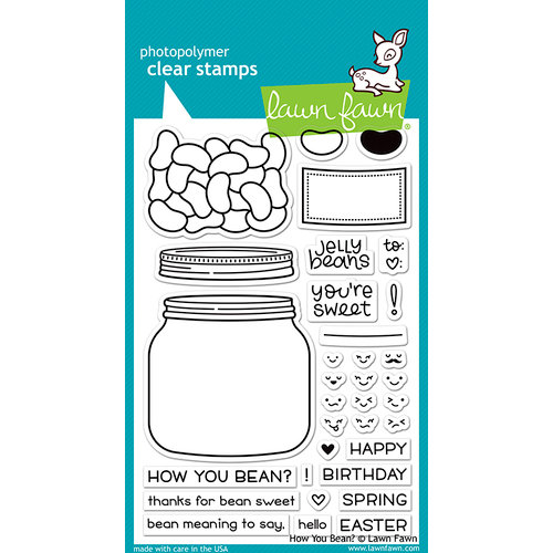 Lawn Fawn - Clear Photopolymer Stamps - How You Bean