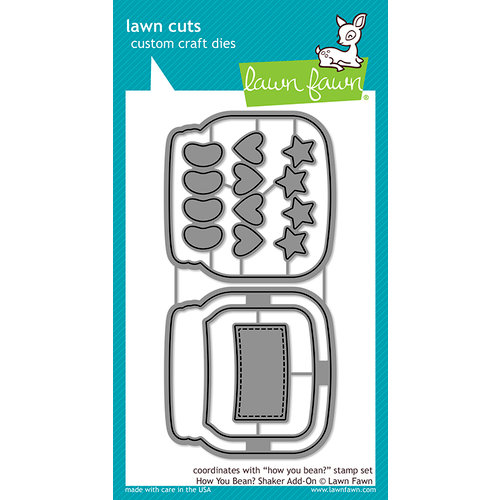 Lawn Fawn - Lawn Cuts - Dies - How You Bean, Shaker Add-On