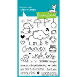 Lawn Fawn - Clear Acrylic Stamps - Elphie Selfie