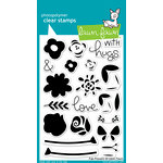 Lawn Fawn - Clear Acrylic Stamps - Fab Flowers