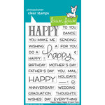 Lawn Fawn - Clear Acrylic Stamps - Happy Happy Happy