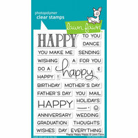Lawn Fawn - Clear Photopolymer Stamps - Happy Happy Happy