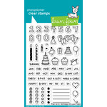 Lawn Fawn - Clear Photopolymer Stamps - Plan On It - Birthday