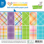 Lawn Fawn - Perfectly Plaid Collection - Rainbow - 6 x 6 Petite Paper Pack