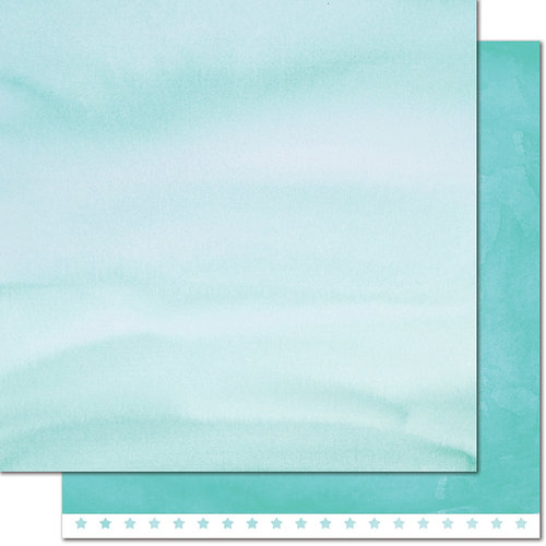 Lawn Fawn - Watercolor Wishes Collection - 12 x 12 Double Sided Paper - Birthday Candles