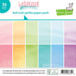 Lawn Fawn - Watercolor Wishes Collection - 6 x 6 Petite Paper Pack