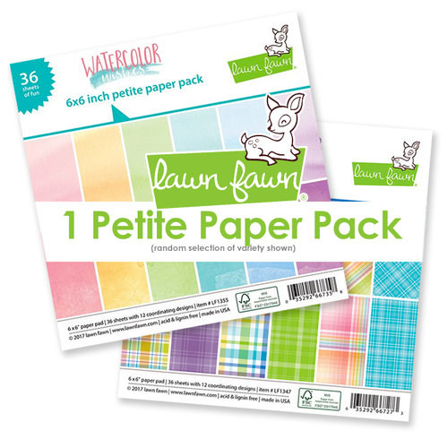 Lawn Fawn - Colorful Variety - 6 x 6 Petite Paper Pack - Random Selection