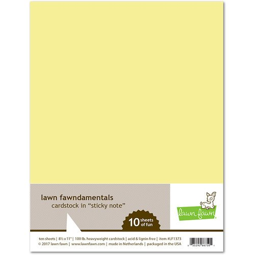 Lawn Fawn - 8.5 x 11 Cardstock - Sticky Note - 10 Pack