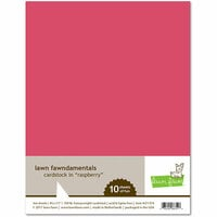 Lawn Fawn - 8.5 x 11 Cardstock - Raspberry - 10 Pack