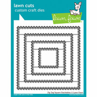 Lawn Fawn - Lawn Cuts - Dies - Zig Zag Square Stackables