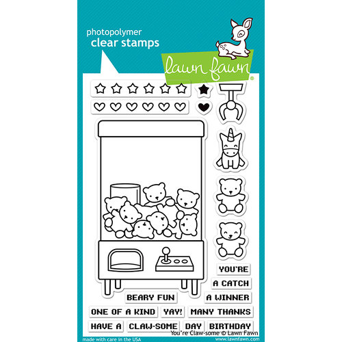 Lawn Fawn - Clear Photopolymer Stamps - You're Claw-some