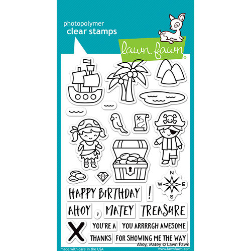 Lawn Fawn - Clear Acrylic Stamps - Ahoy, Matey