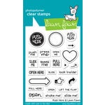 Lawn Fawn - Clear Acrylic Stamps - Push Here