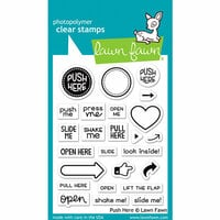 Lawn Fawn - Clear Photopolymer Stamps - Push Here