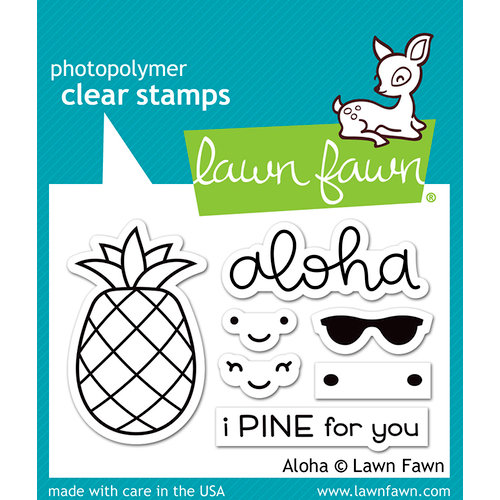 Lawn Fawn - Clear Photopolymer Stamps - Aloha