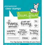 Lawn Fawn - Clear Acrylic Stamps - Tiny Tag Sayings - Birthday