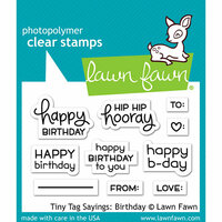 Lawn Fawn - Clear Photopolymer Stamps - Tiny Tag Sayings - Birthday