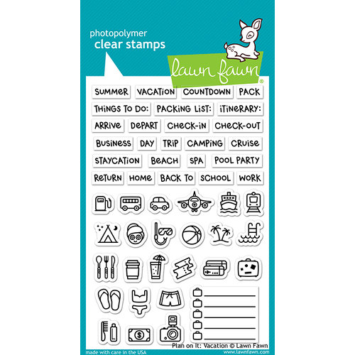 Lawn Fawn - Clear Acrylic Stamps - Plan on It - Vacation