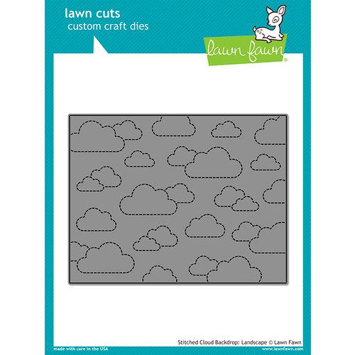 Lawn Fawn - Lawn Cuts - Dies - Stitched Cloud Backdrop - Landscape