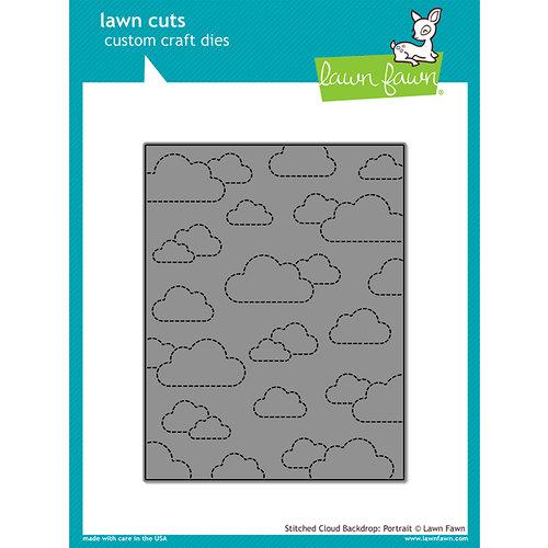 Lawn Fawn - Lawn Cuts - Dies - Stitched Cloud Backdrop - Portrait