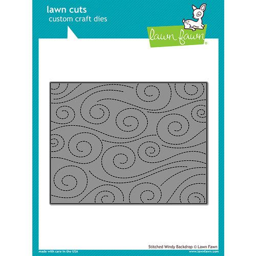 Lawn Fawn - Lawn Cuts - Dies - Stitched Windy Backdrop