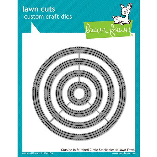 Lawn Fawn - Lawn Cuts - Dies - Outside In Stitched Circle Stackables