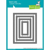 Lawn Fawn - Lawn Cuts - Dies - Outside In Stitched Rectangle Stackables