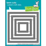 Lawn Fawn - Lawn Cuts - Dies - Outside In Stitched Square Stackables