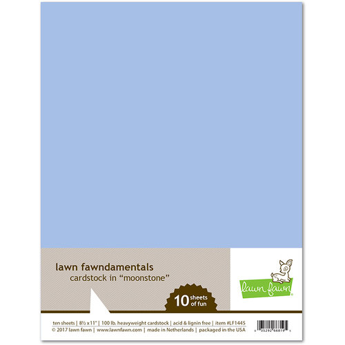 Lawn Fawn - 8.5 x 11 Cardstock - Moonstone - 10 Pack
