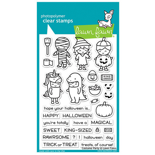 Lawn Fawn - Halloween - Clear Acrylic Stamps - Costume Party