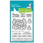 Lawn Fawn - Halloween - Clear Acrylic Stamps - How You Bean, Candy Corn Add-On