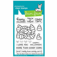 Lawn Fawn - Halloween - Clear Photopolymer Stamps - How You Bean, Candy Corn Add-On