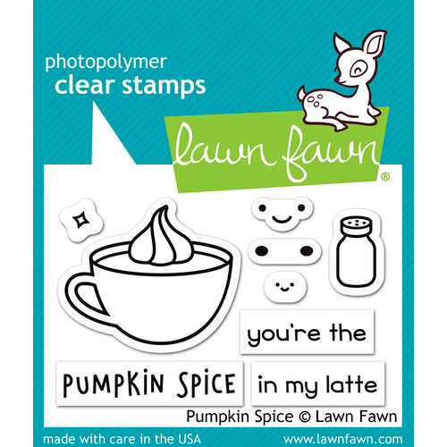 Lawn Fawn Pumpkin Spice clear stamps