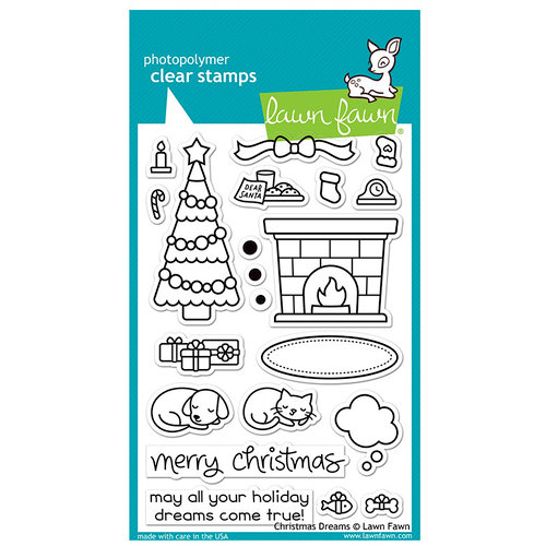 Lawn Fawn - Clear Acrylic Stamps - Christmas Dreams