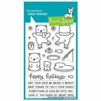 Lawn Fawn - Christmas - Clear Photopolymer Stamps - Beary Happy Holidays