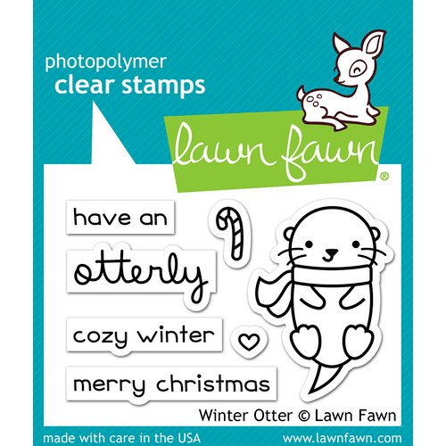 Lawn Fawn - Christmas - Clear Acrylic Stamps - Winter Otter