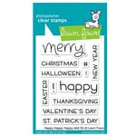 Lawn Fawn - Clear Acrylic Stamps - Happy Happy Happy Add-On
