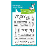 Lawn Fawn - Clear Photopolymer Stamps - Happy Happy Happy Add-On
