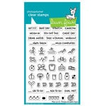 Lawn Fawn - Clear Acrylic Stamps - Plan On It - Fitness