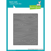 Lawn Fawn - Lawn Cuts - Dies - Stitched Woodgrain Backdrop