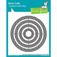 Lawn Fawn - Lawn Cuts - Dies - Outside In Stitched Scalloped Circle Stackables